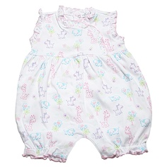 This Kissy Kissy playsuit is so sweet and colorful with all the little animals!
