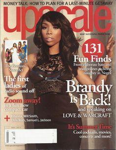 Brandy Upscale Magazine May 2012 The Braxton Sisters Rihanna Angela Yee