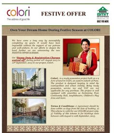 Festive Offer to own your dream home in Pune : No Stamp duty and registration at Colori,Undri. Hurry up as offer valid for limited period. Project ready for possession. Call 91-9545553351 or email info@puneproperties.com for further details.  #PuneProperties #PuneRealEstate #FlatsinPune