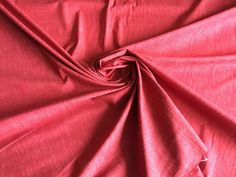 """Heavy Weight Cotton with Stretch, Red/Pink Color with Denim texture, an amazing quality, made in Italy, 45"""" wide, Price is per Yard by PromenadeFabrics on Etsy"""