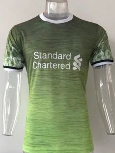 Liverpool 2017-18 Season Green Training Shirt Liverpool 2017 ef39c3a9a0c9f
