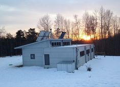 At The Off Grid Modern Prefab With Snowmelt Comes The Warmth Of Friends