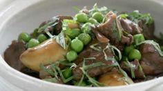 Lamb and pea hotpot