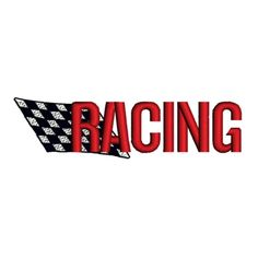 50%OFF RACING FLAG Checkered Black & White Logo by TracenLines
