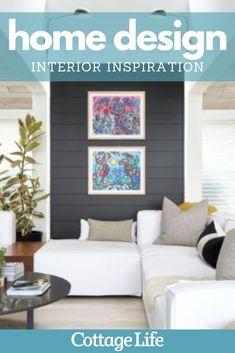 Modern meets eclectic: You have to see this interior design style at this cottage in the Kawarthas. #homedesign #interiordesign #homedecor #bedroomideas #bathroomideas #kitchenideas #homemakeover #CottageLife Lakeside Cottage, Cottage In The Woods, Lake Cottage, Cottage Homes, Cottage Design, Cottage Style, House Design, Interior And Exterior, Interior Design