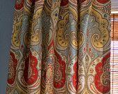 Kravet Latika Festival Damask Curtain Panel / Custom Designer Drapery