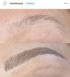 Mircoblading Eyebrows, Thick Eyebrows, Eye Brows, Eyebrow Images, Eyebrow Tattoo, Tattoo Eyebrows, Instagram Makeup Artist, Eyebrow Design, Eyebrow Makeup Tips