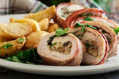 10+1 ínycsiklandó sült hús a húsvéti hidegtálra | Mindmegette.hu Bacon Wrapped Chicken Oven, Chicken Wraps, Breast Recipe, Boneless Skinless Chicken, Brie, Chicken Recipes, Dinner, Cooking, Food