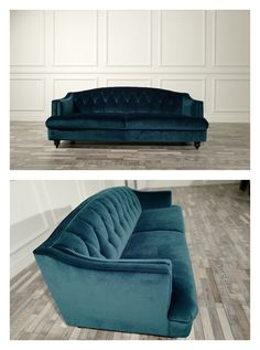 Navy Velvet Fabric Tufted Classic Sofa Made By China Supplier, we Cocheen Furniture are only presenting the high-end contemporary furnishings. Contemporary Sofa, Modern Sofa, Sofa Design, Furniture Design, Classic Sofa, Sofas, Modern Design, Velvet, Cozy