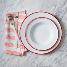 Enamelware Dinnerware - Red
