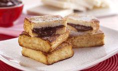 Receita de Sanduíche de rabanada e Nutella® - Sanduíche - Dificuldade: Fácil - Calorias: 407 por porção