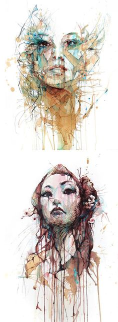 Portrait à base de vodka, whisky...  Carne Griffiths  http://www.carnegriffiths.com/