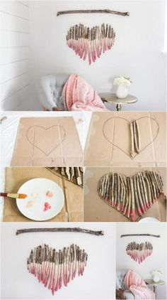 How to Make an Interesting Art Piece Using Tree Branches DIY Fun fun and easy diy crafts to do at home - Fun Diy Crafts Fun Diy Crafts, Decor Crafts, Baby Crafts, Kids Crafts, Stick Crafts, Tree Branch Crafts, Tree Branches, Branch Art, Tree Crafts