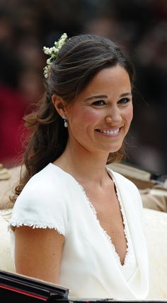 Philippa Middleton after the wedding service for Prince William and Kate, Duchess of Cambridge, on April 29, 2011.