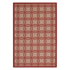 Couristan Five Seasons Retro Clover Indoor / Outdoor Area Rug Red - 30944021036055T