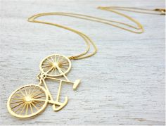 ShlomitOfir - Long Bicycle Necklace