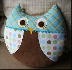 Download Max the Owl Pillow Sewing Pattern | New Sewing and Applique | YouCanMakeThis.com