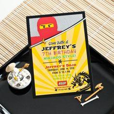 Ninja Birthday Party Printable Invitation