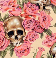 Folklorico - Mini Calaveras - Black - Alexander Henry - Day of the Dead - cotton fabric - Fondant Fabrics Alexander Henry Fabrics, Skull Wallpaper, Bedroom Wallpaper, 3d Rose, Arte Sketchbook, Pink Skull, Skulls And Roses, Creation Couture, Cotton Quilts