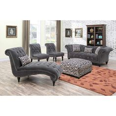 Emerald Home Furnishings Hutton II Sofa Set Furniture, Room, Willa Arlo Interiors, Living Room Collections, Living Room Sets, Home, Love Seat, Chaise Lounge, Chaise
