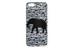 Chalkboard Inspired Elephant Iphone 6 Case - Love the Elephant over the words!