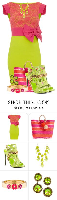 """Lime Contest"" by tlb0318 on Polyvore featuring Mar y Sol, Privileged, Natasha Accessories, Kate Spade and House of Lavande"