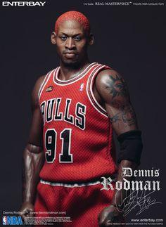 1/6 Scale Dennis Rodman Chicago Bulls Figure by Enterbay. Price: $224.99 USD.