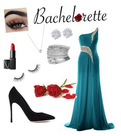 """""""Bachelorette"""" by xxpizza-monsterxx ❤ liked on Polyvore featuring Gianvito Rossi, Miss Selfridge, Effy Jewelry, Links of London, tarte and NARS Cosmetics"""