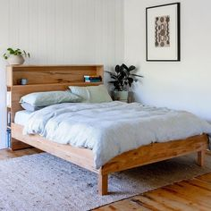 Al and Imo Custom Timber Furniture Timber Bed Frames, Timber Beds, Bedroom Bed Design, Room Decor Bedroom, Bedroom Ideas, Bed Ideas, Master Bedroom, Bookshelf Headboard, Storage Headboard