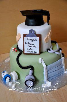 Medical Graduation cake | by Lori's Sweet Cakes