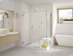 Superieur CORTEROS SHOWER BASE WITH SEAT WITH PLATINUM SHOWER DOOR. Both Products By  Fleurco