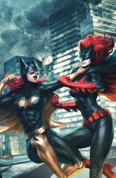 """The cover for BATGIRL #12 by Stanley """"Artgerm"""" Lau)    What is going on with Batgirl's leg? Wish I had balance that well, lol"""