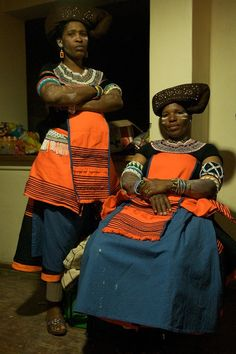 Two Xhosa woman, participants at a traditional dance festival, Mount Frere, South Africa (©Anton Crone - We Are The World, People Of The World, African Tribes, African Women, African Beauty, African Fashion, Black Is Beautiful, Beautiful People, Xhosa Attire