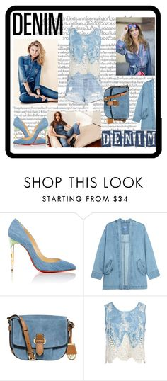 """""""Jean-ious"""" by beckibae1 ❤ liked on Polyvore featuring H&M, Christian Louboutin, Steve J & Yoni P, MICHAEL Michael Kors and Sans Souci"""