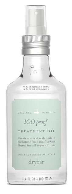Why: Years of flat-ironing, blow-drying, and curling your hair may have left you with serious split ends and dryness. Remedy that and prevent it from happening again by using a pre-hot-tools protectant serum.  Try: I love Drybar's latest 100 Proof Treatment Oil ($35) because it actually feels nourishing when I add it to the end of my mane. It's like my hair is thirsty and drinking the rejuvenating oil in. I use it after the shower and anytime I need to tame flyaways.