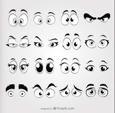 Discover the best free graphic resources for Cartoon Eyes, results Cartoon Faces, Cartoon Drawings, Art Drawings, Cartoon Cartoon, Tole Painting, Painting & Drawing, Drawing Eyes, Doodle Art, Free Cartoons
