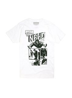 If you look towards the California sunset you might just find. The NBHD.White T-shirt from The Neighbourhood featuring a large comic strip style illustration design on cottonWash cold; dry lowImportedListed in men's sizes The Neighbourhood Merch, Band Outfits, Cute Outfits, List Style, My Style, California Sunset, Band Merch, White Tees, Comic Strips