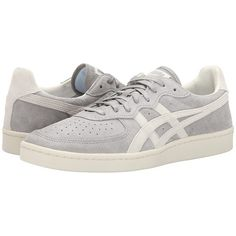 Onitsuka Tiger by Asics GSM (Light Grey/Off White) Shoes (€71) ❤ liked on Polyvore featuring shoes, off white shoes, onitsuka tiger shoes, laced up shoes, laced shoes and grip shoes