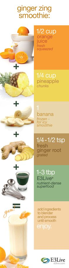 Delicious Ginger Zing Smoothie!    http://www.e3live.com/recipes/e3_ginger_zing_smoothie.html  #e3live