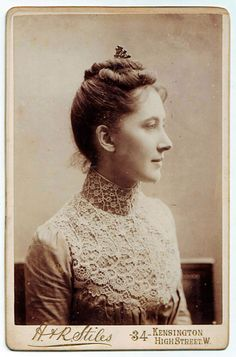 1899 -Publisher / Photographer: H. & R. Stiles of London. Wonderful example of nineteenth-century cabinet photo, the back has an inscription in ink and is signed and dated.