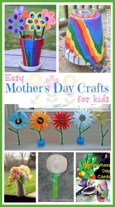 Like the fingerprint flowers 7 Easy Mothers Day Crafts for Kids - In Lieu of Preschool Easy Mother's Day Crafts, Mothers Day Crafts For Kids, Fathers Day Crafts, Crafts For Kids To Make, Mothers Day Cards, Art For Kids, Mother Day Gifts, Mother's Day Activities, Craft Activities For Kids
