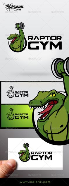 Raptor Gym  Logo Design Template Vector #logotype Download it here: http://graphicriver.net/item/raptor-gym-logo/7080251?s_rank=1449?ref=nexion