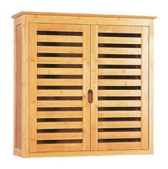 bambus schrank badezimmerschrank unterschrank 2-türig badezimmer ... - Schrank Fur Badezimmer 2