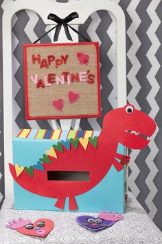 this valentines day box kit is dino mite - Boys Valentine Boxes