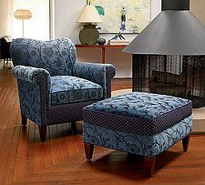 """Molly Rose Chair in Lake by Mary Lynn O'Shea (Upholstered Chair) (18"""" x 26"""")"""