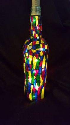 42 upcycling ideen f r diy lampen aus glasflaschen lampe mit bewegungsmelder orientalische. Black Bedroom Furniture Sets. Home Design Ideas