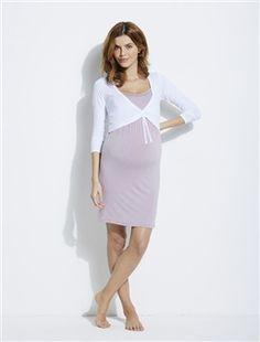 5c8c2d6f7bf Adaptable Maternity, Nursing Nightie & Bolero Outfit, Maternity   Vertbaudet  Nursing Clothes, Folk