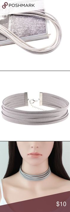 the faux suede layered choker • style name: the faux suede layered choker • color: gray • material: faux suede, metal alloy • multi-layer sueded choker w/ silver tone hardware • condition: brand new boutique item ____________________________________________________ ✅ make an offer!     ✅ i bundle! ✅ posh compliant closet ⛔️ no trades 🛍 boutique item Jewelry Necklaces