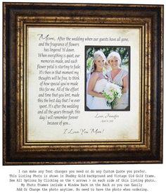 Mother of the Bride Gift, Wedding Photo Frame, Mom Dad Wedding Gift, rustic wedd…burlap wedding cake Wedding Gifts For Parents, Wedding Thank You Gifts, Wedding Gifts For Guests, Bride Gifts, Wedding Guest Book, Gift Wedding, Wedding Cake, Groom Gifts, Table Wedding