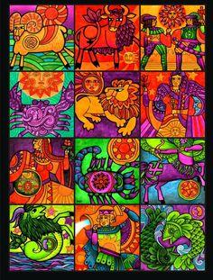vintage zodiac art | Vintage Zodiac Poster by Frohickey